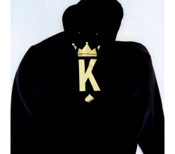 Bluza z kapturem M czarna King Poker