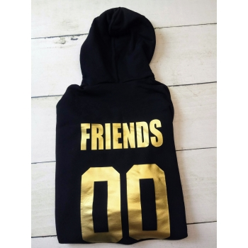 Bluza z kapturem M czarna Friends 00