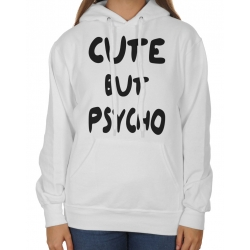 Bluza oversize z kapturem Cute but psycho