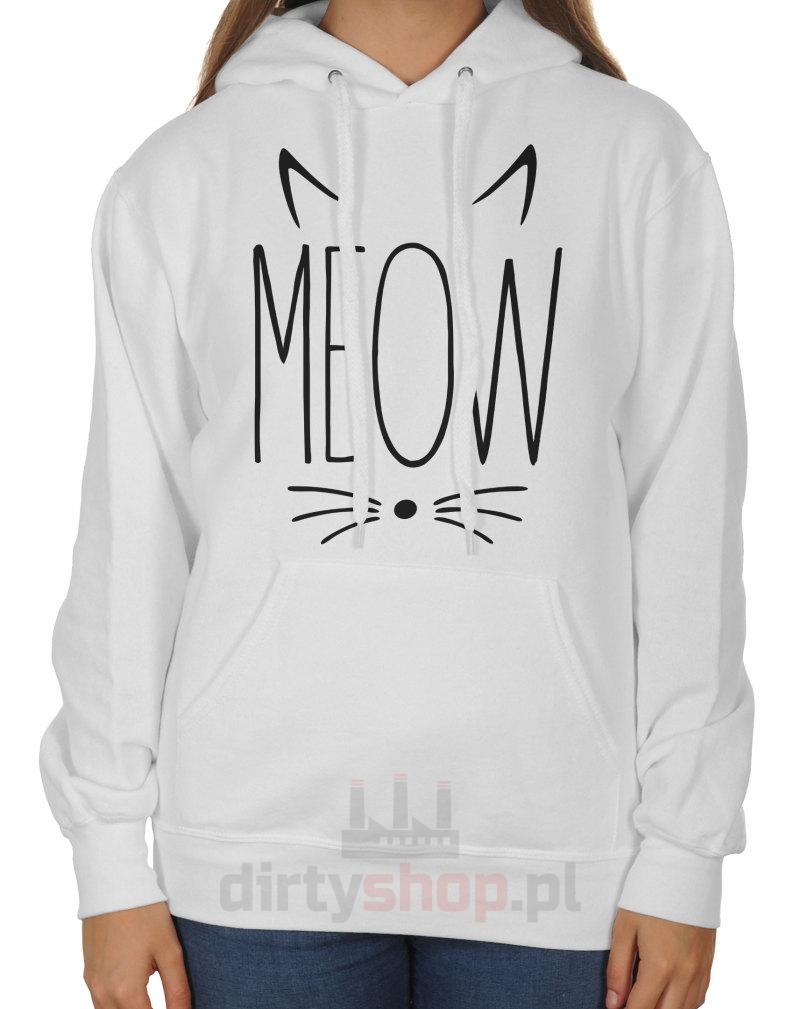 life is getting czarna bluza z kotem