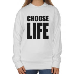 Blogerska bluza oversize Choose life