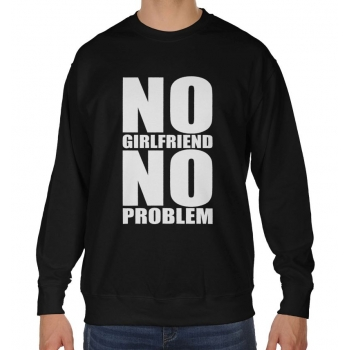 Blogerska bluza oversize No girlfriend no problem