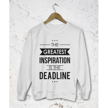 Lekka bluza damska The greatest inspiration is the deadline