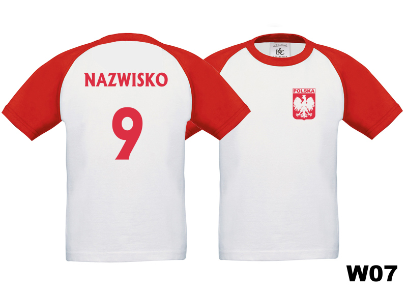 452488c7e Koszulka dziecięca Małego Kibica Reprezentacji Polski + Nazwisko i numer w07