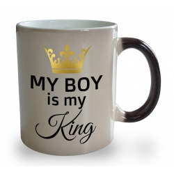 Kubek magiczny My boy is my King
