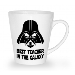 Kubek latte na Dzień Nauczyciela Best teacher in the galaxy