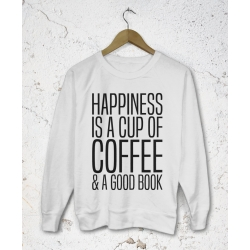 Lekka bluza damska Happines is a cup of coffee