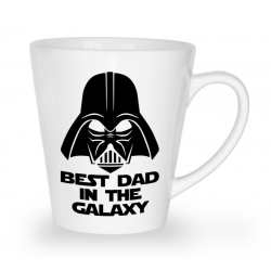 Kubek latte na dzień ojca Best dad in the galaxy