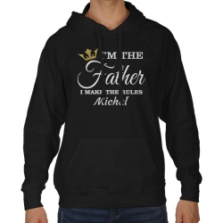 Bluza z kapturem na dzień Ojca I'm the father I make the rules + imię