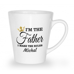Kubek latte na dzień ojca I'm the father I make the rules + imię