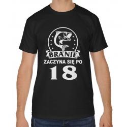 18849d10384b Koszulka męska na 18 urodziny Branie zaczyna się po 18-stce